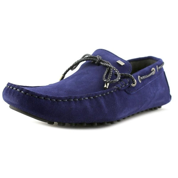 CR7 Rumba Men Moc Toe Suede Blue Loafer