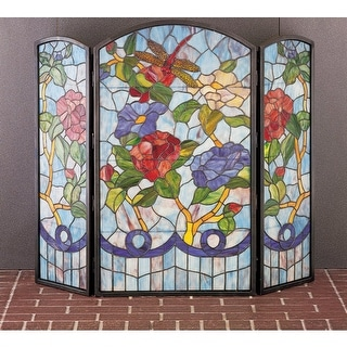 Meyda Tiffany 27234 Stained Glass / Tiffany Fireplace Screen from the Country Li
