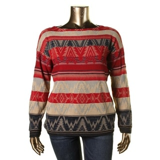 Lauren Ralph Lauren Womens Knit Pattern Pullover Sweater