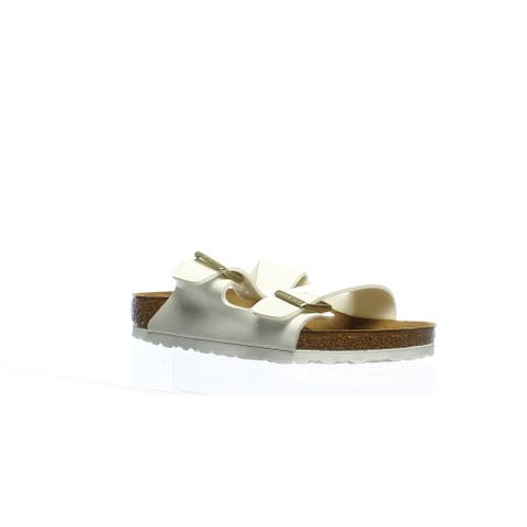Birkenstock Womens Arizona Bs White Sandals EUR 40