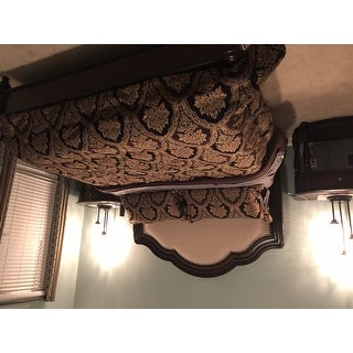 Five Queens Court Reilly Woven Chenille Damask 4 Piece Comforter Set
