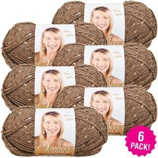Lion Brand Vanna's Choice Yarn 6/Pk-Barley - Brown