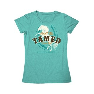 Farm Girl Western Shirt Women Tamed Cotton S/S Turquoise F23007023 - m