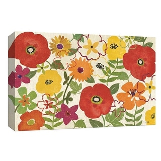 """PTM Images 9-153649  PTM Canvas Collection 8"""" x 10"""" - """"Watercolor Garden I"""" Giclee Flowers Art Print on Canvas"""