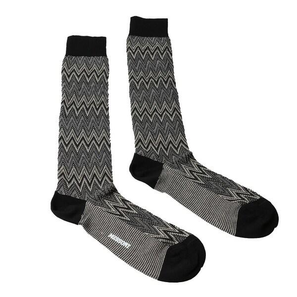 Missoni GM00CMU5242 0004 Grey/Cream Knee Length Socks - S