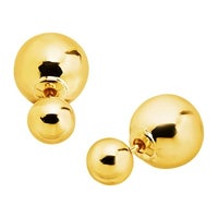 f07e25403 Eternity Gold Polished Double Ball Front-Back Stud Earrings in 14K Gold -  Yellow