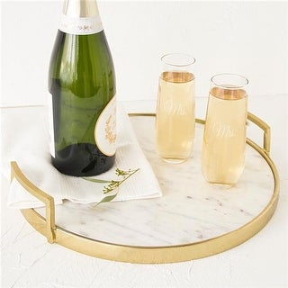 Mrs. & Mrs. 2 Stemless Champagne Toasting Flutes - Set of 2