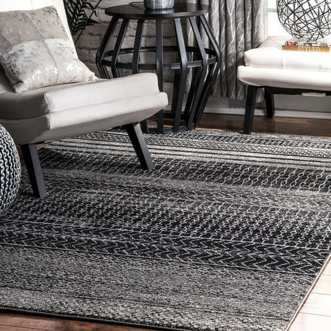 nuLOOM Boho Contemporary Abstract Pattern Area Rug