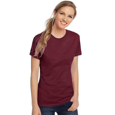 Hanes Women's Nano-T® T-shirt - Size - S - Color - Maroon