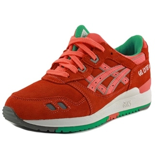 Asics Gel-Lyte III Youth Round Toe Suede Orange Sneakers
