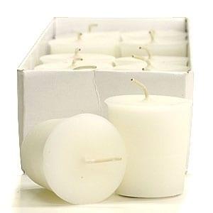 Gardenia Votive Candles Votive Candles Pack: 12 per box 1.75 in. diameter x 2 in. tall 1.75 in. diameter x 2 in. tall