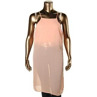 Material Girl Womens Juniors Blouse Chiffon Side Slit - XL