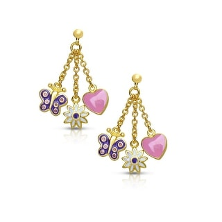 Lily Nily Girl's Charms Dangle Earrings - Pink