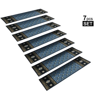"""Link to Non-Slip Mats Rubber Backing Stair Treads  Set of 7 ( 8.5"""" x 26"""" ) Similar Items in Decorative Accessories"""