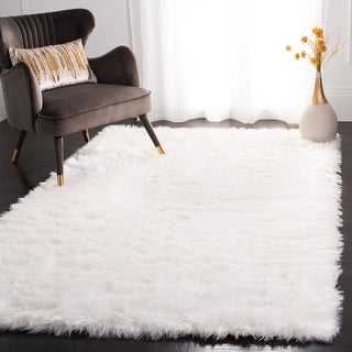Link to Safavieh Faux Sheep Skin Alexandria Shag Solid Rug Similar Items in Rustic Rugs