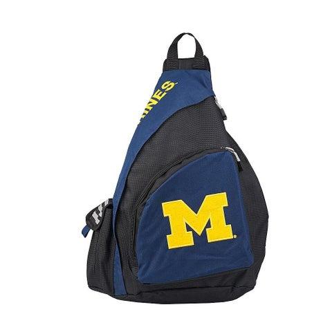 NCAA Sling Backpack Michigan Wolverines Navy/Black - Black/Navy