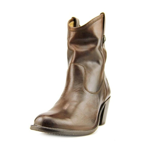 a7de660866d Shop Frye Jackie Button Short Boot Round Toe Leather Ankle Boot ...