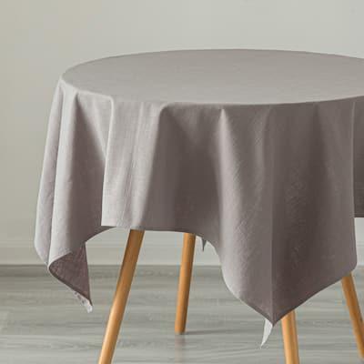 Deerlux 100% Pure Linen Washable Tablecloth Solid Color