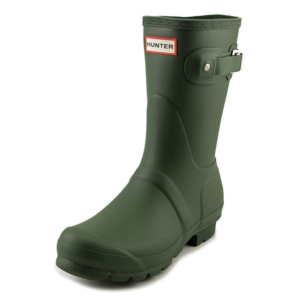 Hunter Original Short Women Round Toe Green Rain Boot