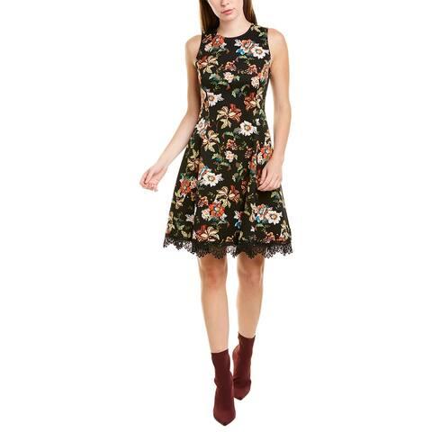 Donna Ricco Floral A-Line Dress