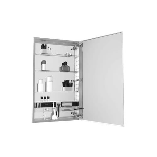 Robern Mc1640d4fpre2 M Series 16 X 40 4 Flat Plain Single Door Medicine Cabinet With Right Hinge Integrated Outlets And Free Shipping Today