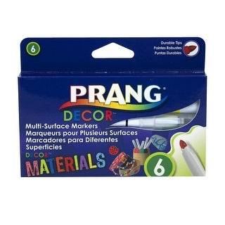 Prang Decor Multi-Surface Markers, Assorted Colors, Set of 6