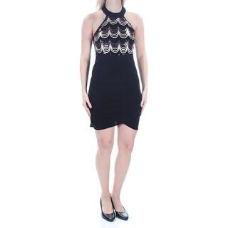 CRYSTAL DOLLS $59 Womens New 1211 Black Sequined Tulip Dress 5 Juniors B+B