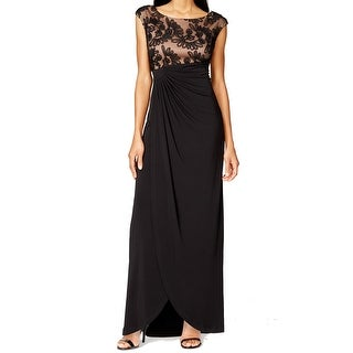 Connected Apparel NEW Black Women's 20W Plus Empire Waist Maxi Dress