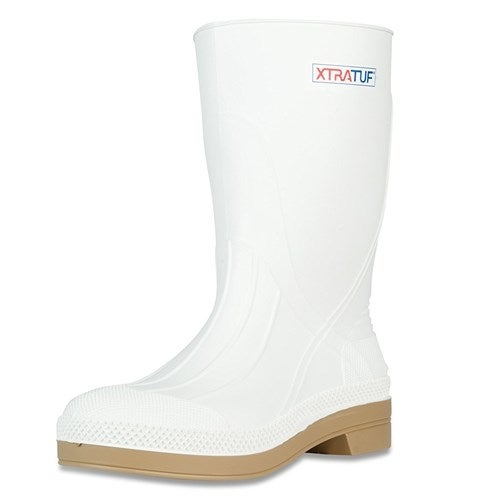 "Xtratuf Men's 11"" White Shrimp Boots w/ Chevron Outsole & Heel - Size 15"