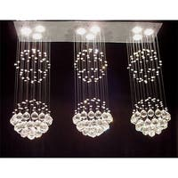 Modern Contemporary Chandelier Lighting Triple *Rain Drop* Chandelier Lighting