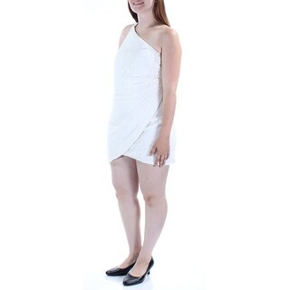FAME AND PARTNERS $224 Womens New 1448 White Floral Lace Sleeveless Dress 12 B+B