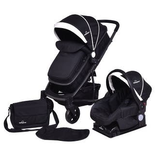 Costway 3 In1 Foldable Baby Kids Travel Stroller Newborn Infant Pushchair Buggy Black|https://ak1.ostkcdn.com/images/products/is/images/direct/45684e6f599e785667590a721bbc15bc5f03ce12/Costway-3-In1-Foldable-Baby-Kids-Travel-Stroller-Newborn-Infant-Pushchair-Buggy-Black.jpg?impolicy=medium