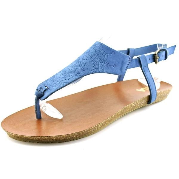 Mia Sylvia Women  Open Toe Synthetic Blue Thong Sandal