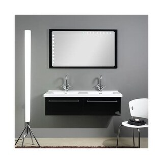 "Nameeks FL5 Iotti 47-3/4"" Wall Mounted Vanity Set with Wood Cabinet"