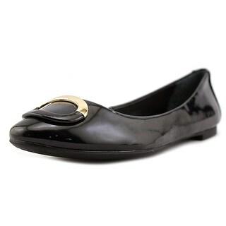 Alfani Gwennevah Women  Round Toe Patent Leather Black Flats