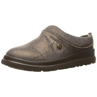 Skechers Womens Cherish Sleigh Ride Clog Slippers Casual Faux Fur Lined