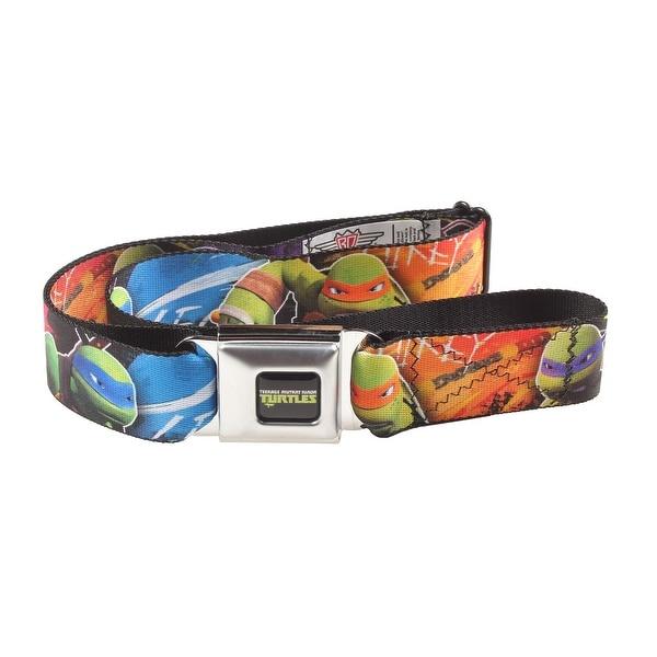 Teenage Mutant Ninja Turtles Group Character Seatbelt Belt-Holds Pants Up