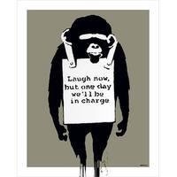 ''Laugh Now'' by Banksy Humor Art Print (20 x 16 in.)