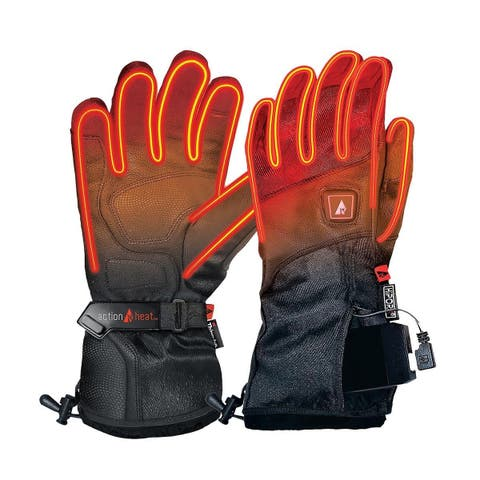 Actionheat Mens 5V Rechargeable Heated Snow Glove, Adult