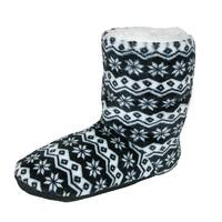Nollia Women's Nordic Pattern Slipper Bootie
