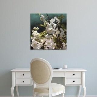 Easy Art Prints Rick Novak's 'White Roses III' Premium Canvas Art