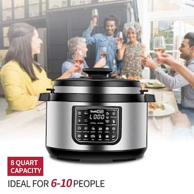 Household Kitchen 8L Oval LED Display High Pressure Cooker
