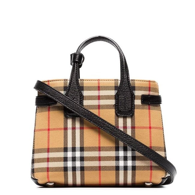 Shop Burberry Baby Banner Vintage Check Crossbody Bag Black Overstock 30278569