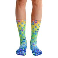 Living Royal Photo Print Crew Socks: Galaxy Emoji - Multi