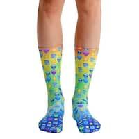 Living Royal Photo Print Crew Socks: Galaxy Emoji - Multi