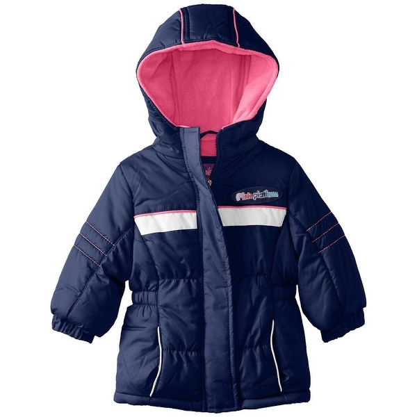 c258c38d8 Shop Pink Platinum Girls 4-6X Athletic Puffer Jacket - Free Shipping On  Orders Over $45 - Overstock.com - 20600798
