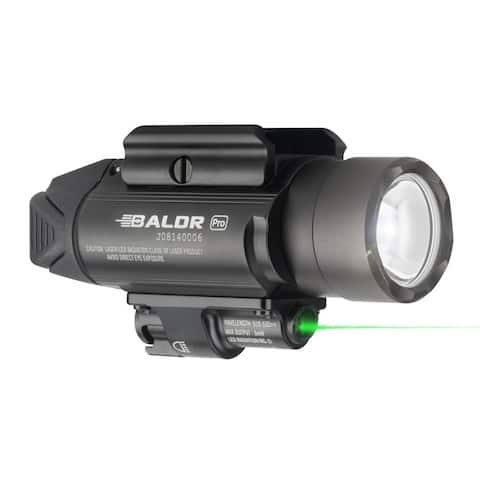 Olight Baldr Pro 1350 Lumen Pistol Flashlight with Green Laser Sight (Black)