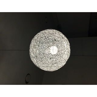 'Opulence' Aluminum Wire Wrapped Ceiling Lamp