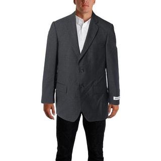 Bert Pulitzer Mens Mark Wool Blend Single Vent Two-Button Suit Jacket