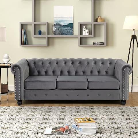 Morden Fort Couches for Living Room, Sofas for Living Room Furniture Sets, Sofa, Fabric, Velvet